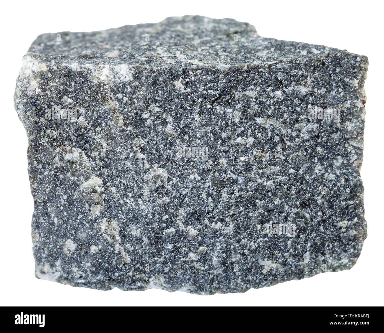 Andesite Stone Isolated On White Background Stock Photo