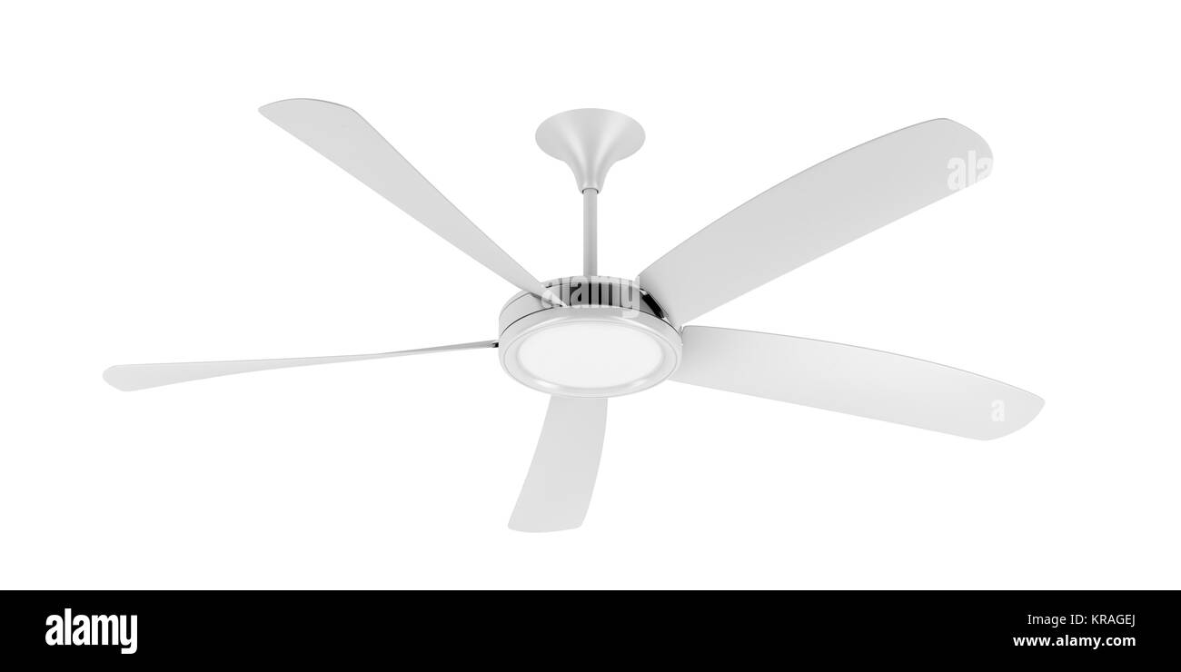 White ceiling fan Stock Photo