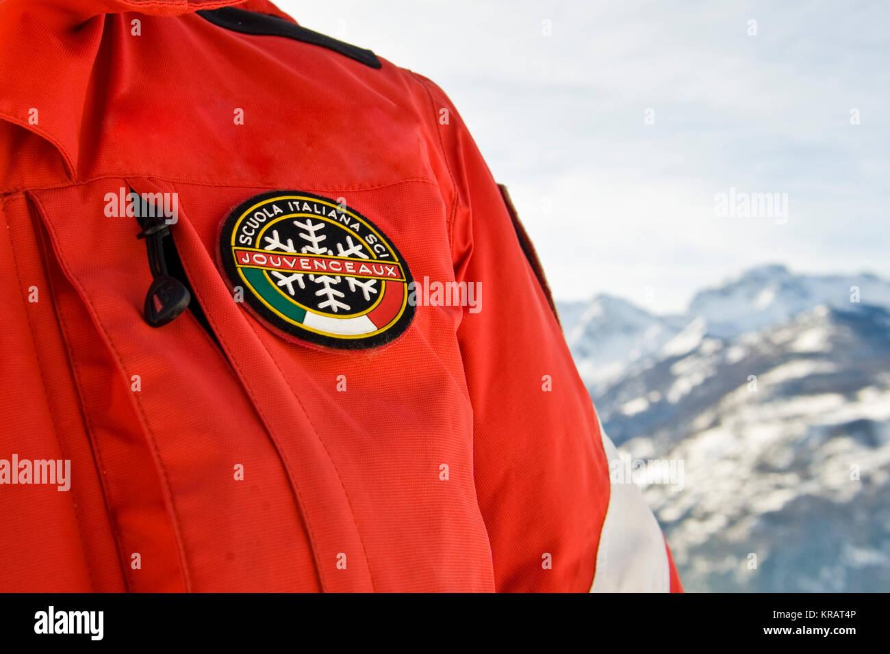 ski instructor, Sauze d'Oulx, Turin province, Piedmont, Italy - Stock Image