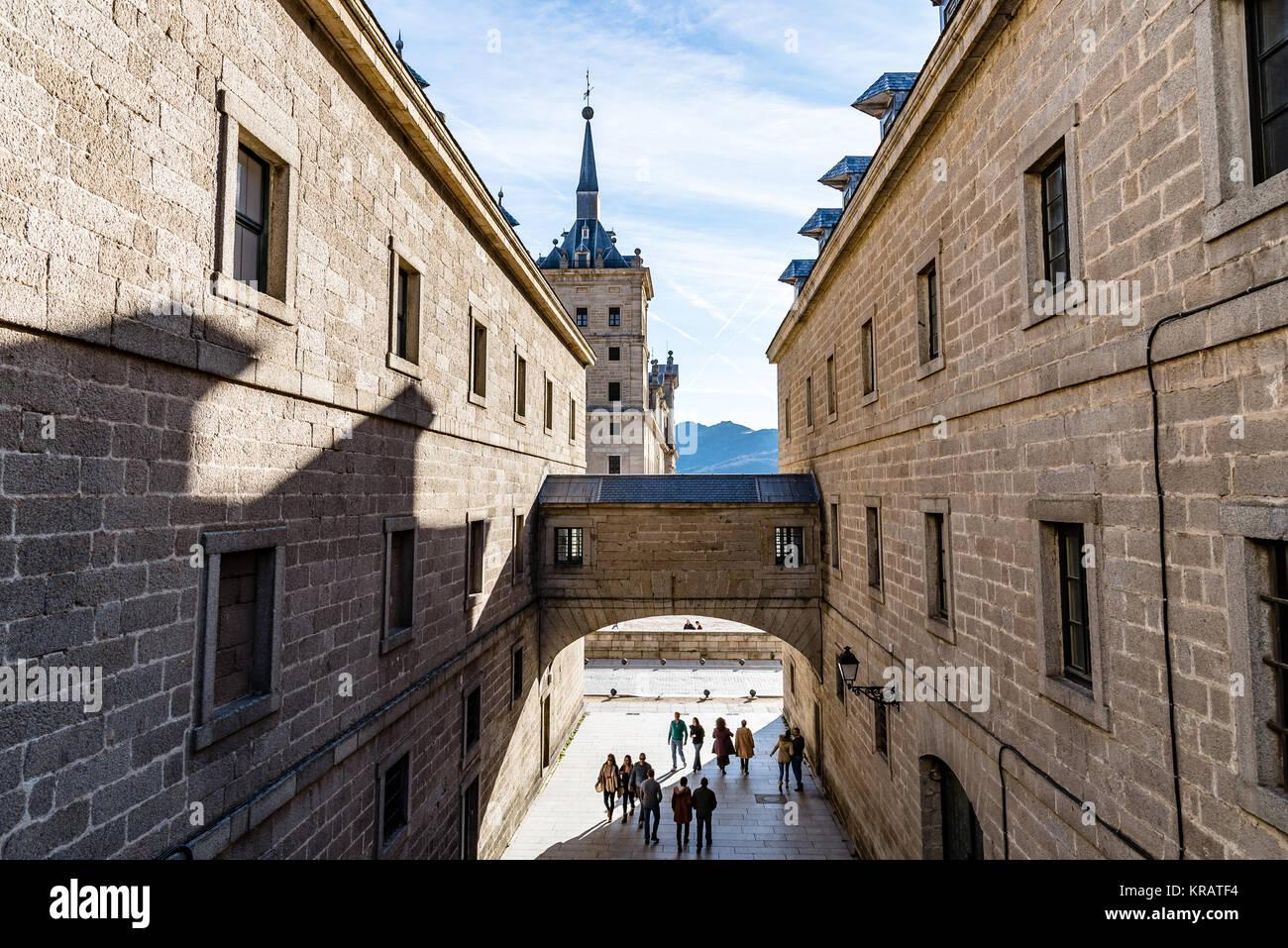 Outdoor view of Monastery of El Escorial Stock Photo