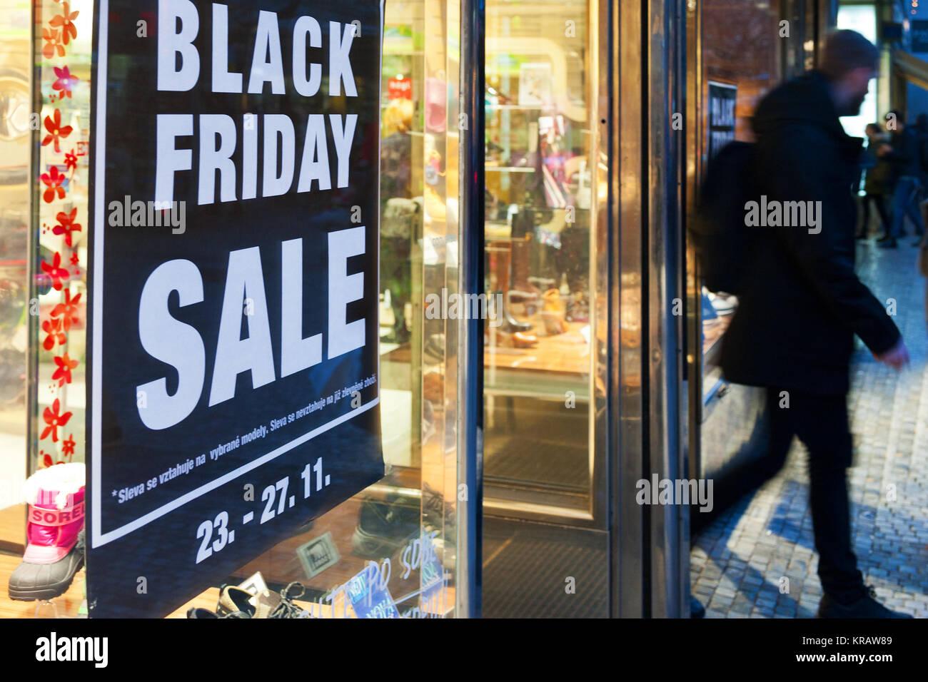 české nakupování - slevy a výprodej - černý pátek / czech shopping - sale and discount - Stock Image