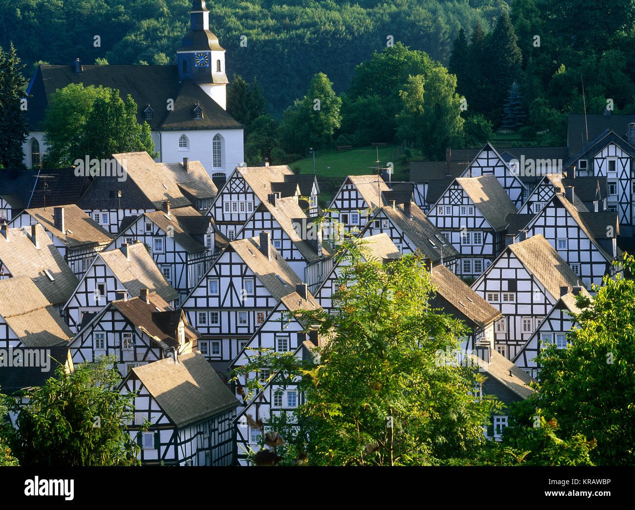 Freudenberg Alter Flecken, North Rhine Westphalia, Germany - Stock Image