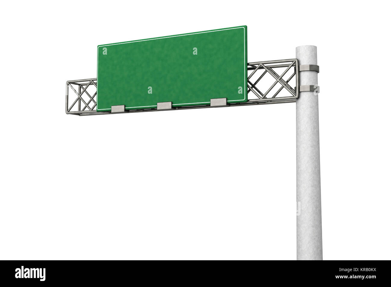 3D rendered Illustration. A empty Highway Sign. - Stock Image
