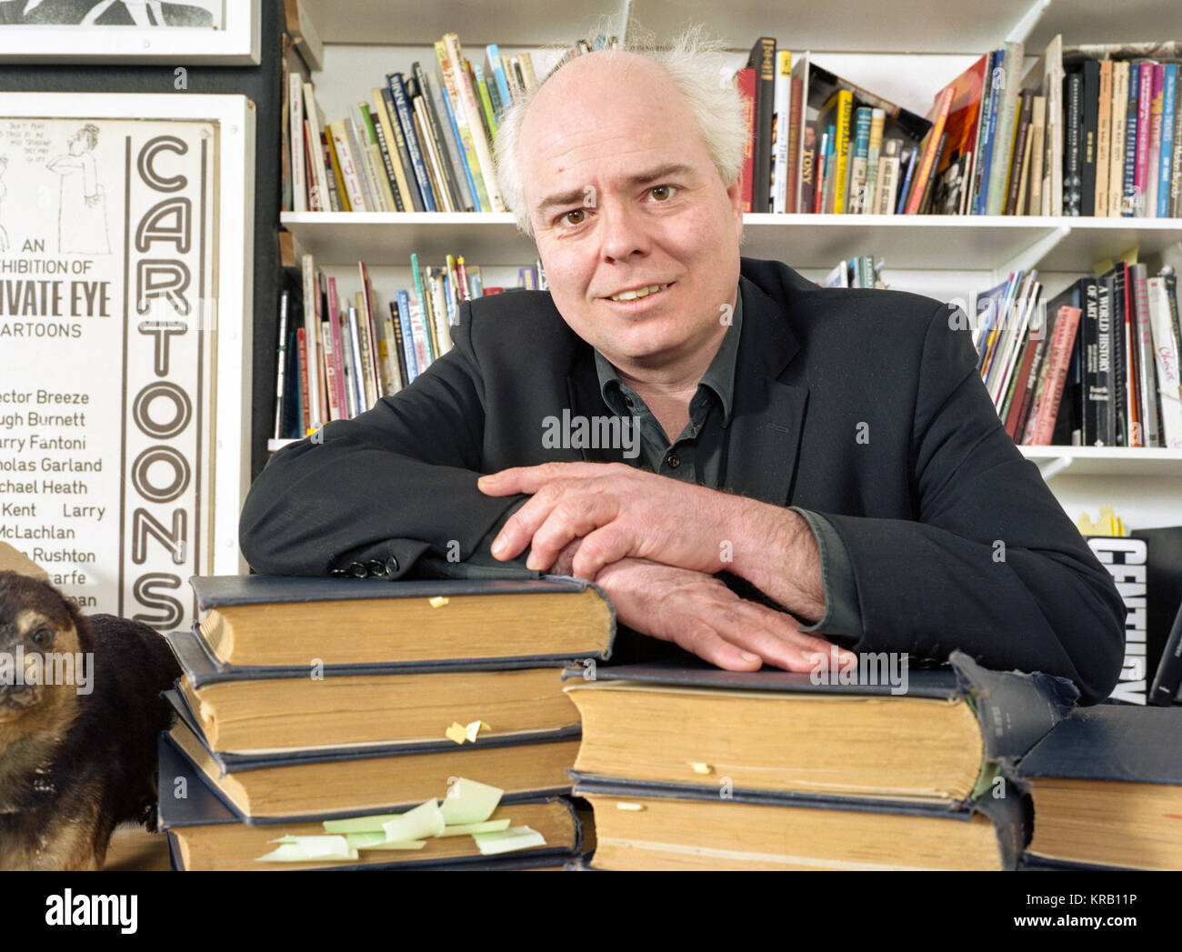 English Journalist and Author Francis Wheen at the Private Eye offices, London, England, United Kingdom. - Stock Image