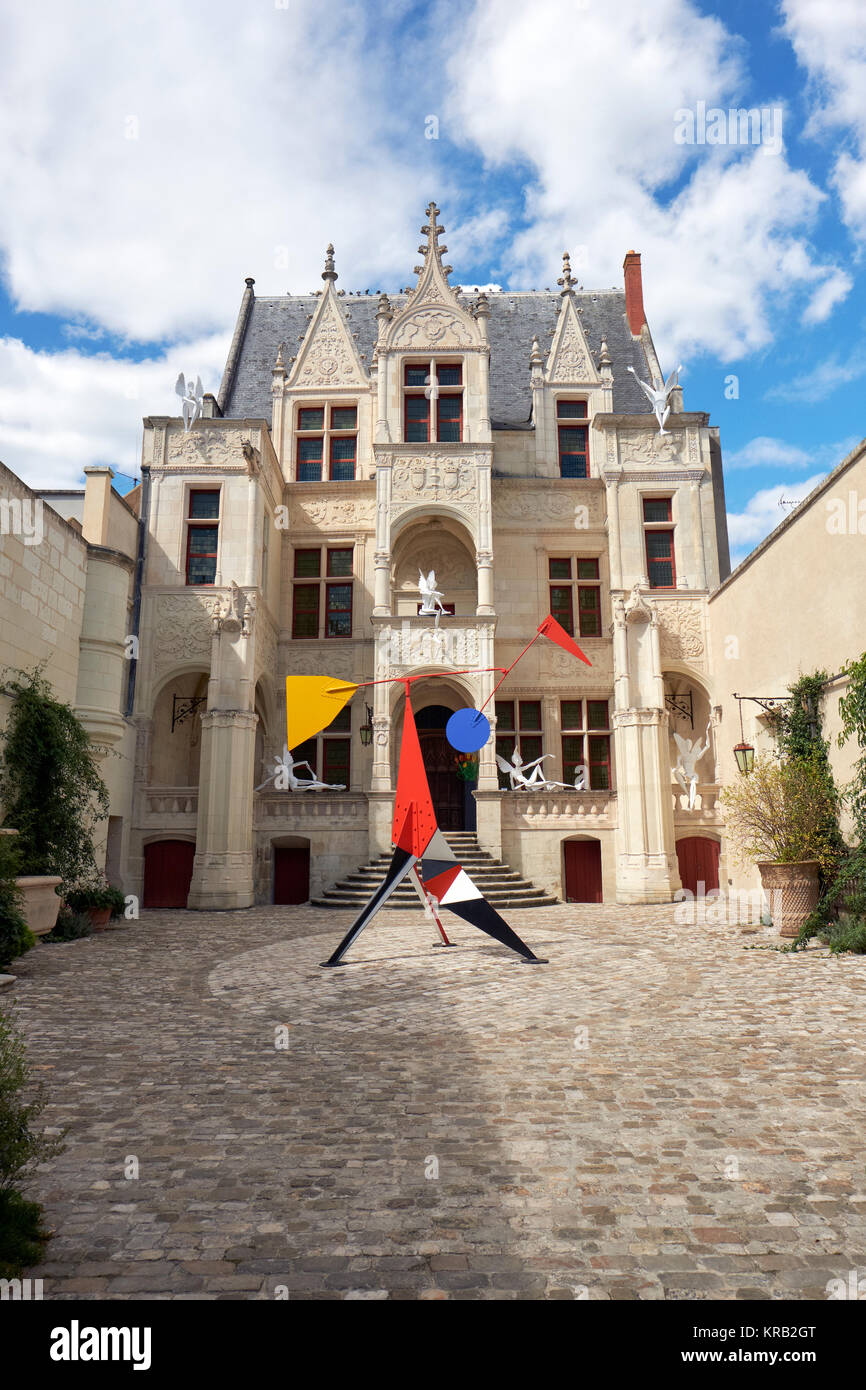 The Hotel Gouin in the medieval city of Tours in the Loire Valley France - Stock Image