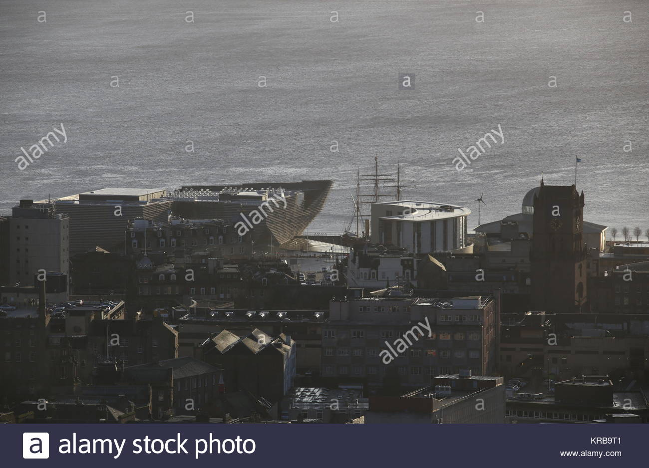 Elevated view of Discovery Point from Dundee Law Scotland  December 2017 - Stock Image