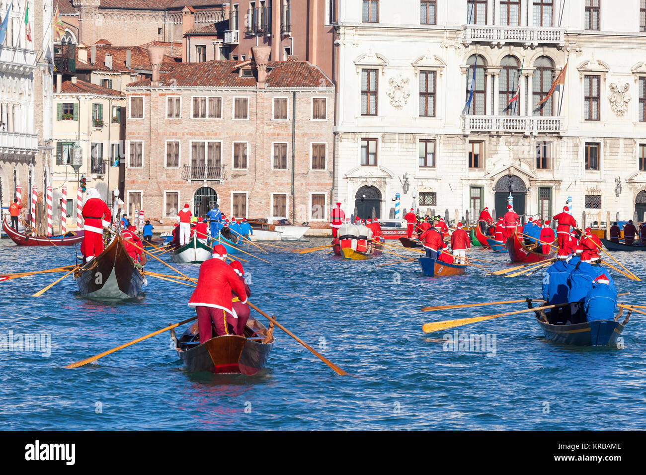 Babbo Natale Italy.Celebrating Christmas In Venice Italy During The Babbo Natale Stock