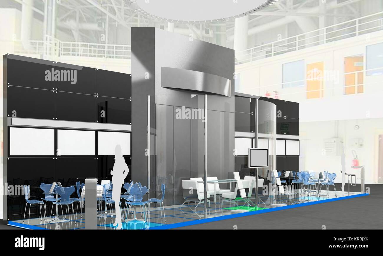Exhibition Stand Interiors : Exhibition stand interior exterior sample stock photo