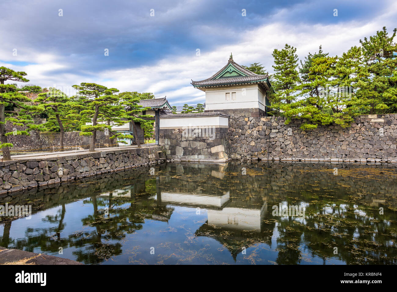 Tokyo, Japan at the Imperial Palace moat. - Stock Image