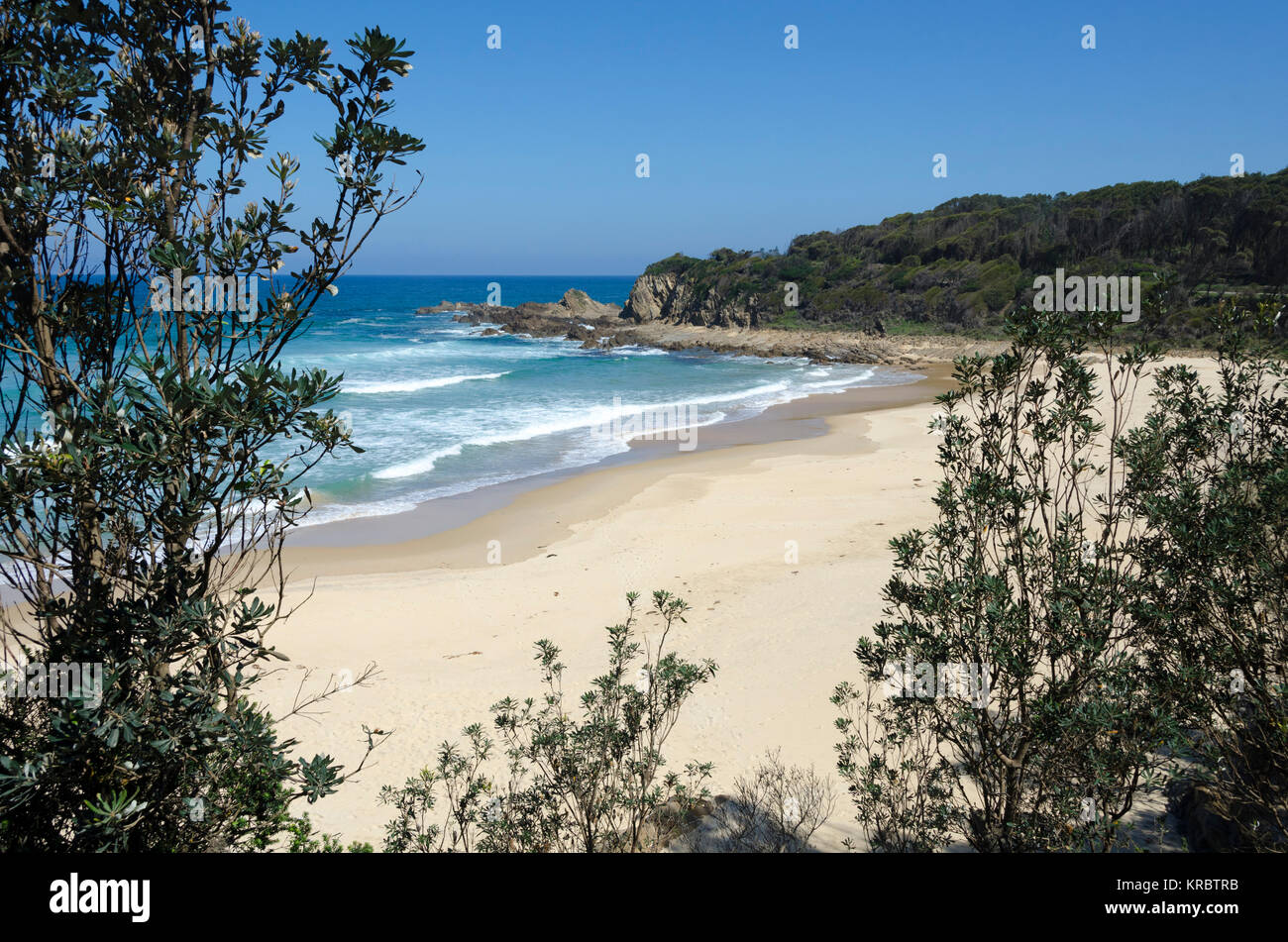 Piccaninny Beach, Potato Point, New South Wales, Australia - Stock Image