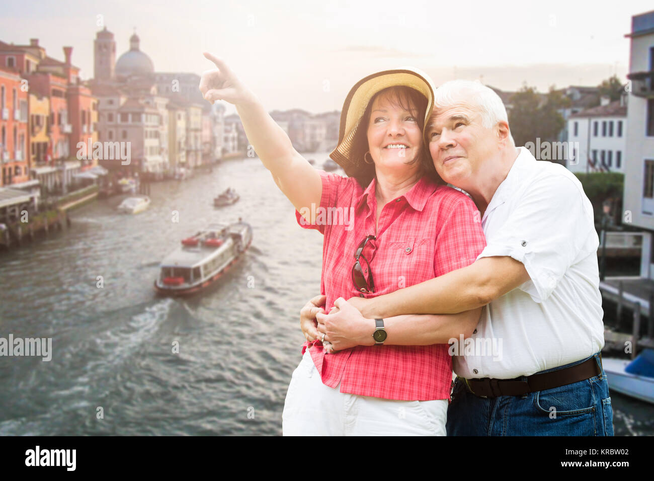 Couple Pointing Finger - Stock Image