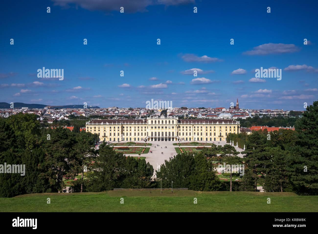 cityscape vienna schonbrunn palace Stock Photo