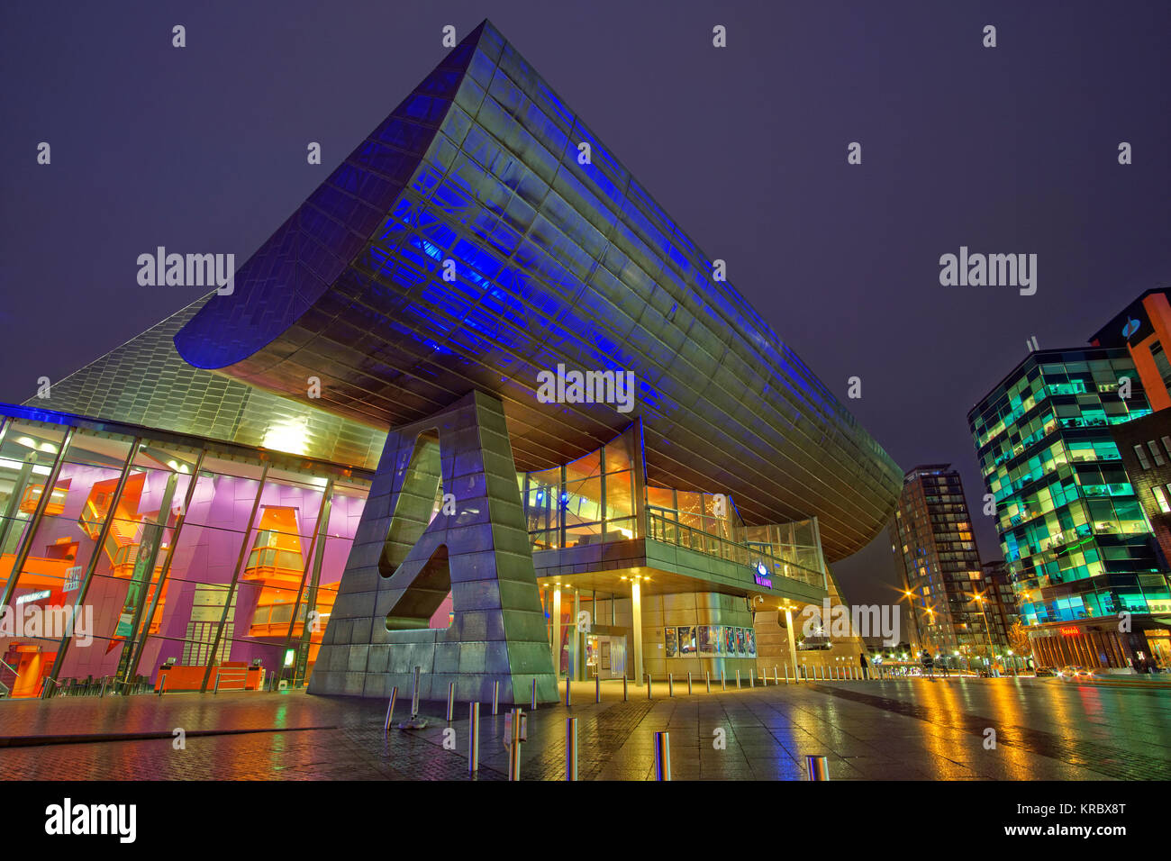 The Lowry theatre at Salford Quays, Salford, Greater Manchester. - Stock Image