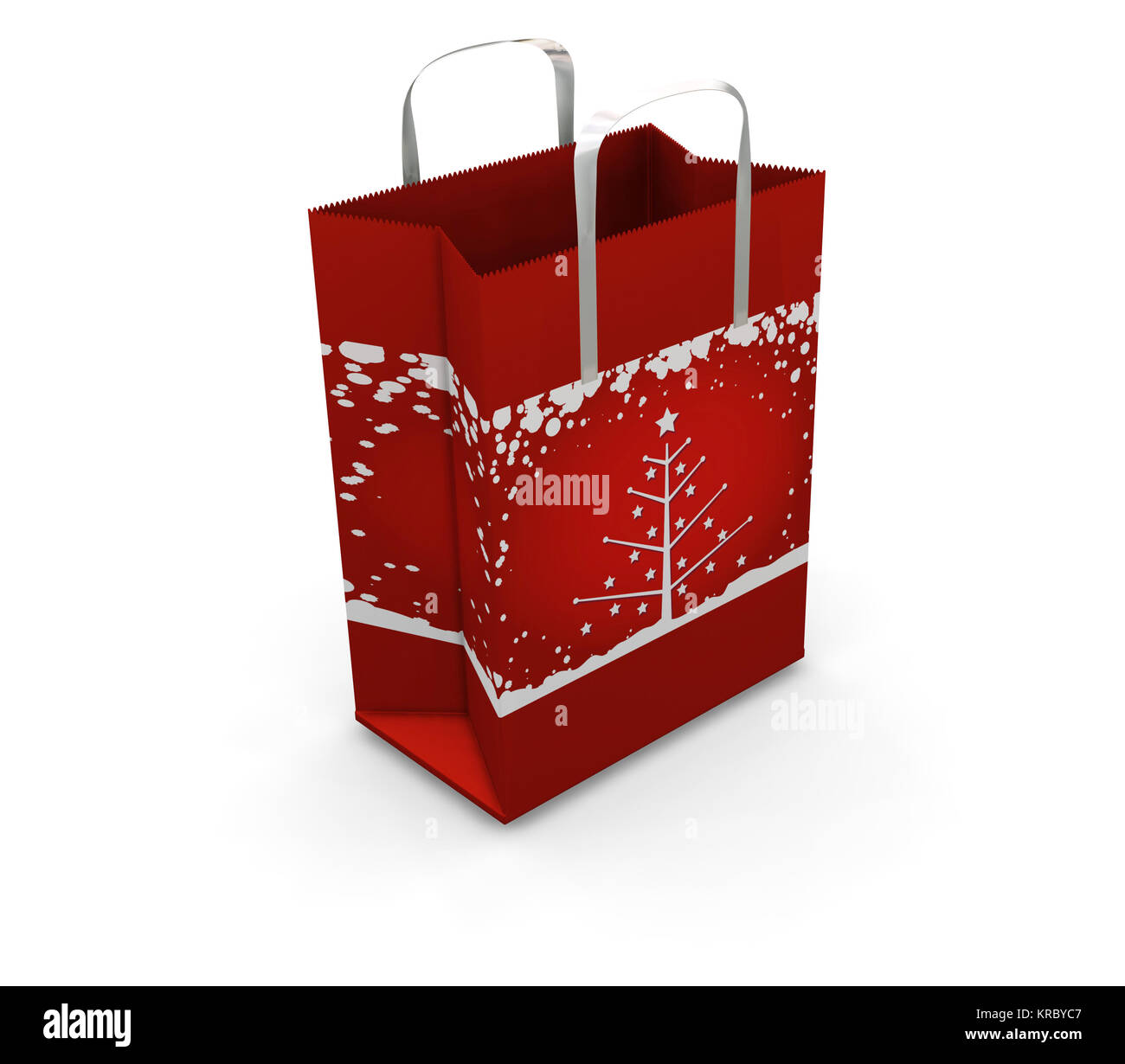 3D render of a Christmas shopping bag - Stock Image