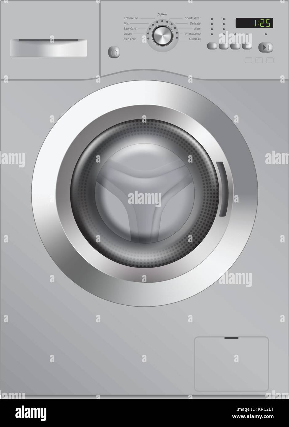 Washing machine, realistic vector illustration - Stock Image
