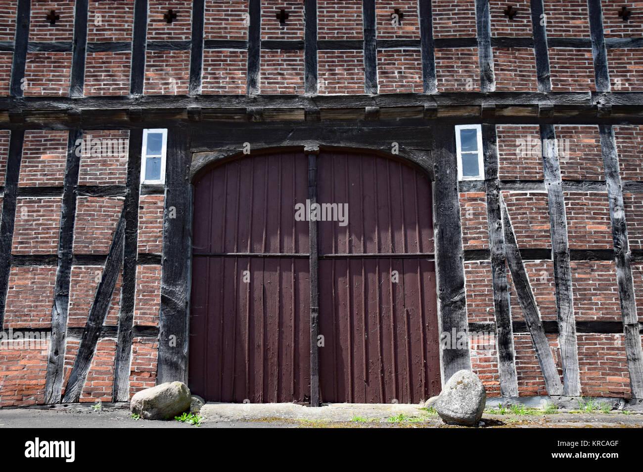timbered barn Stock Photo