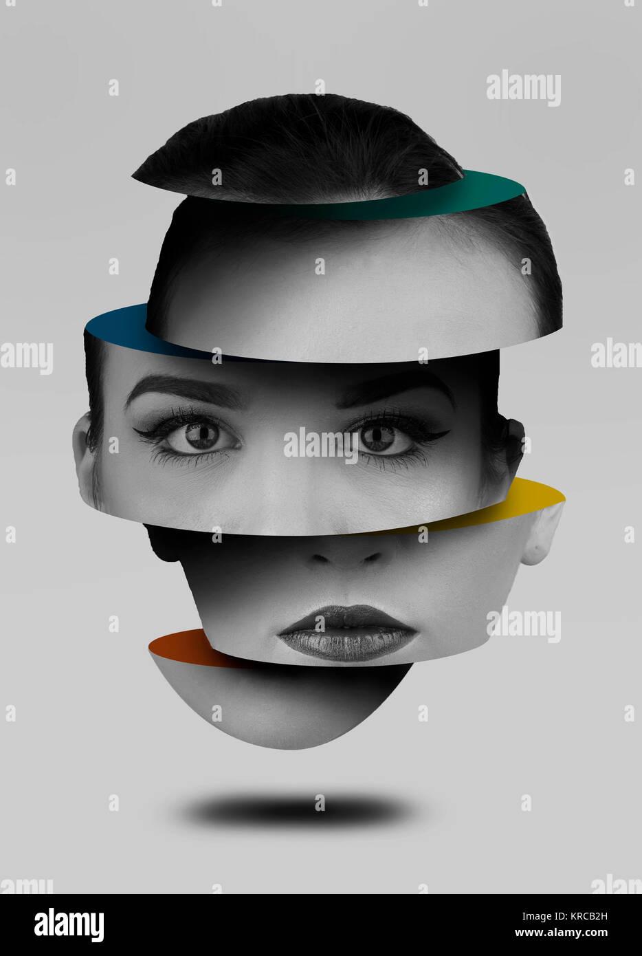 Photoshop, Photoshop Compilation, Photoshop Manipulation, Floating Head - Stock Image