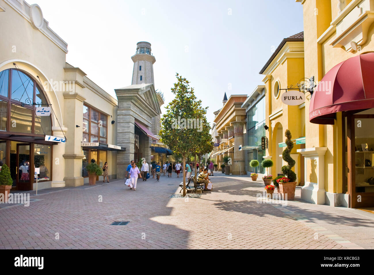 Shopping center Fidenza village, Fidenza, province of Parma, Italy - Stock Image