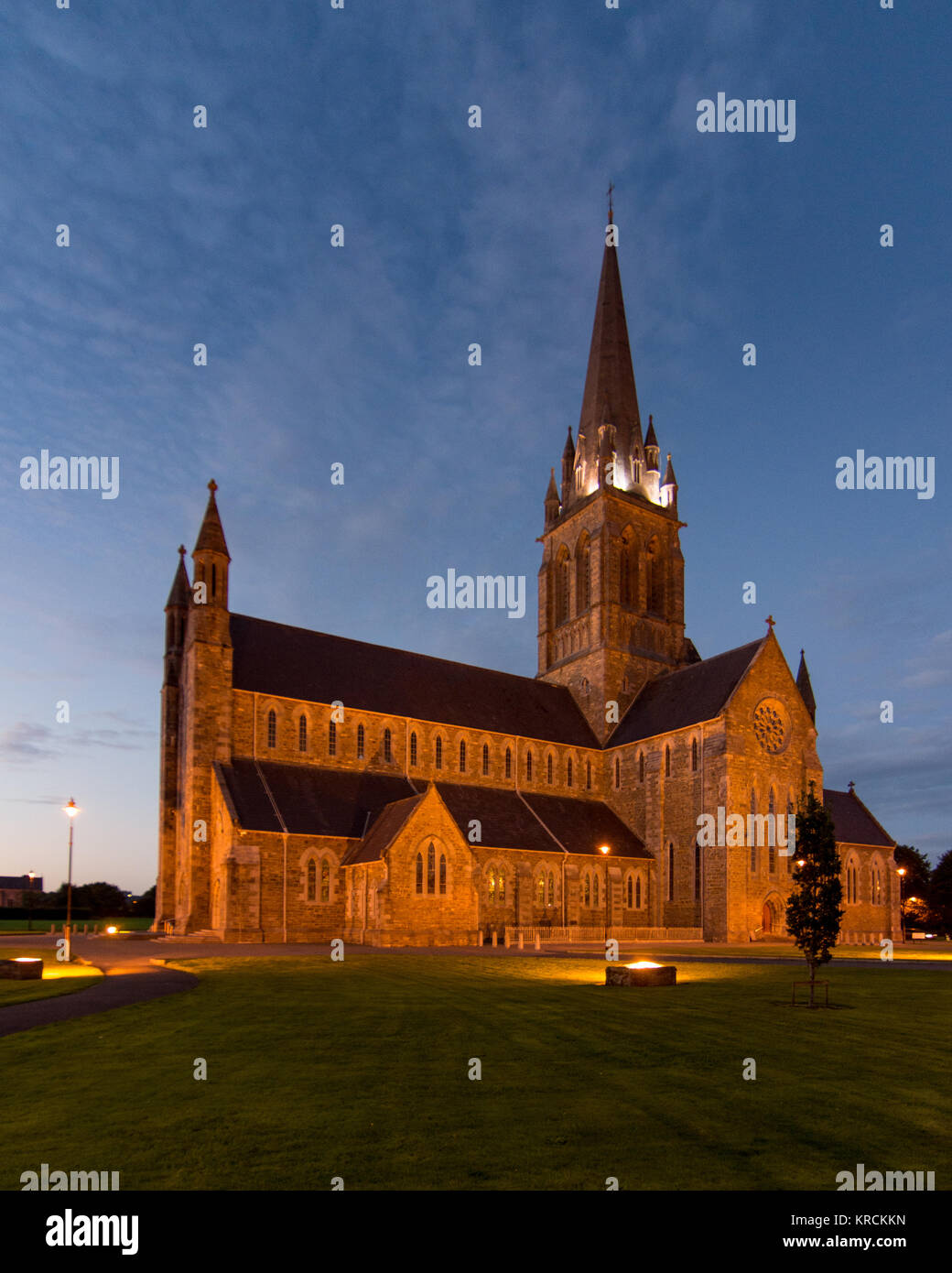 St Mary's Cathedral, designed by architect Augustus Welby Pugin, in Killarney in Ireland's County Kerry. - Stock Image