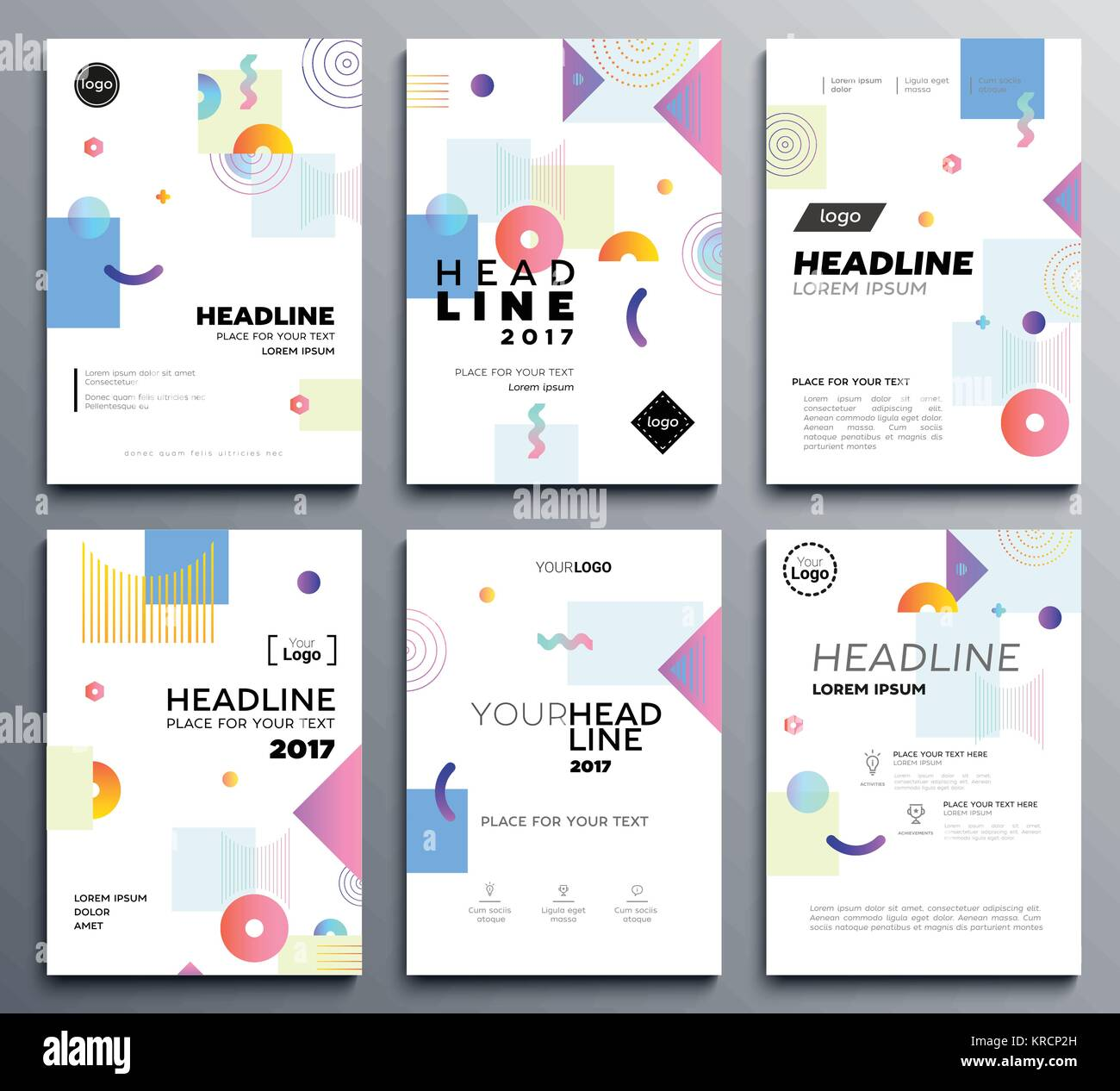 Presentation booklet cover - vector template a4 pages Stock Vector ...