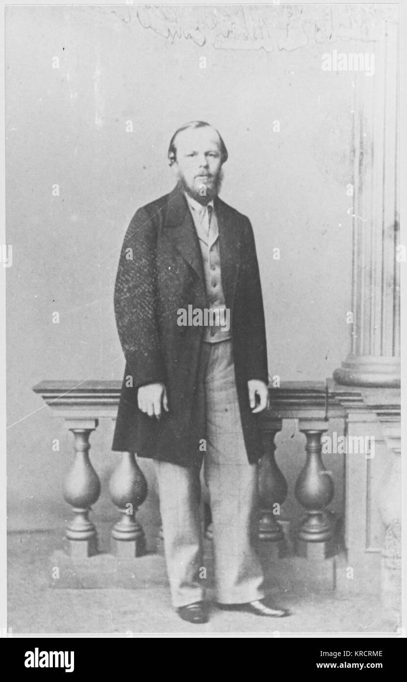 Fyodor Mikhailovich Dostoevsky (1821-1881) Russian writer - Stock Image