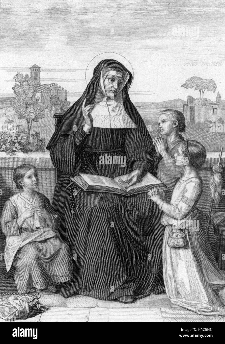 Saint Angela De Merici Italian nun and educator; canonised in 1807 Date: circa 1500s - Stock Image