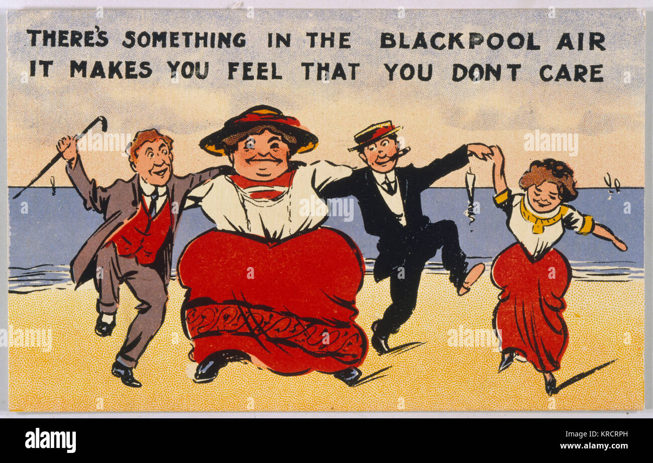 'There's something in the Blackpool air, it makes you feel that you don't care.' Date: 20th century - Stock Image