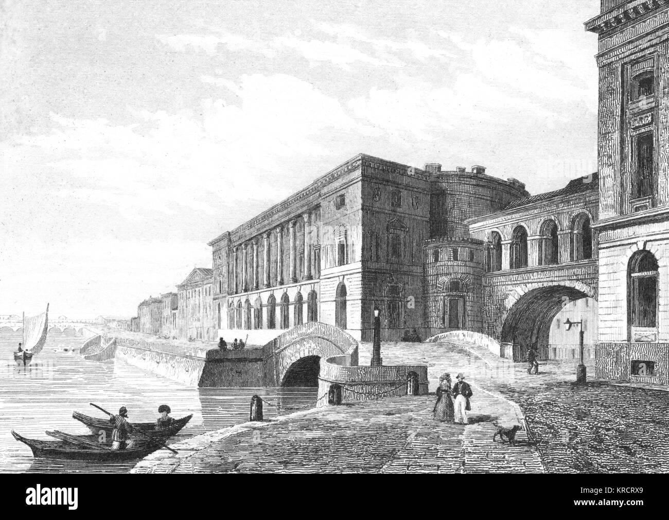 The Hermitage theatre Date: 1830s - Stock Image