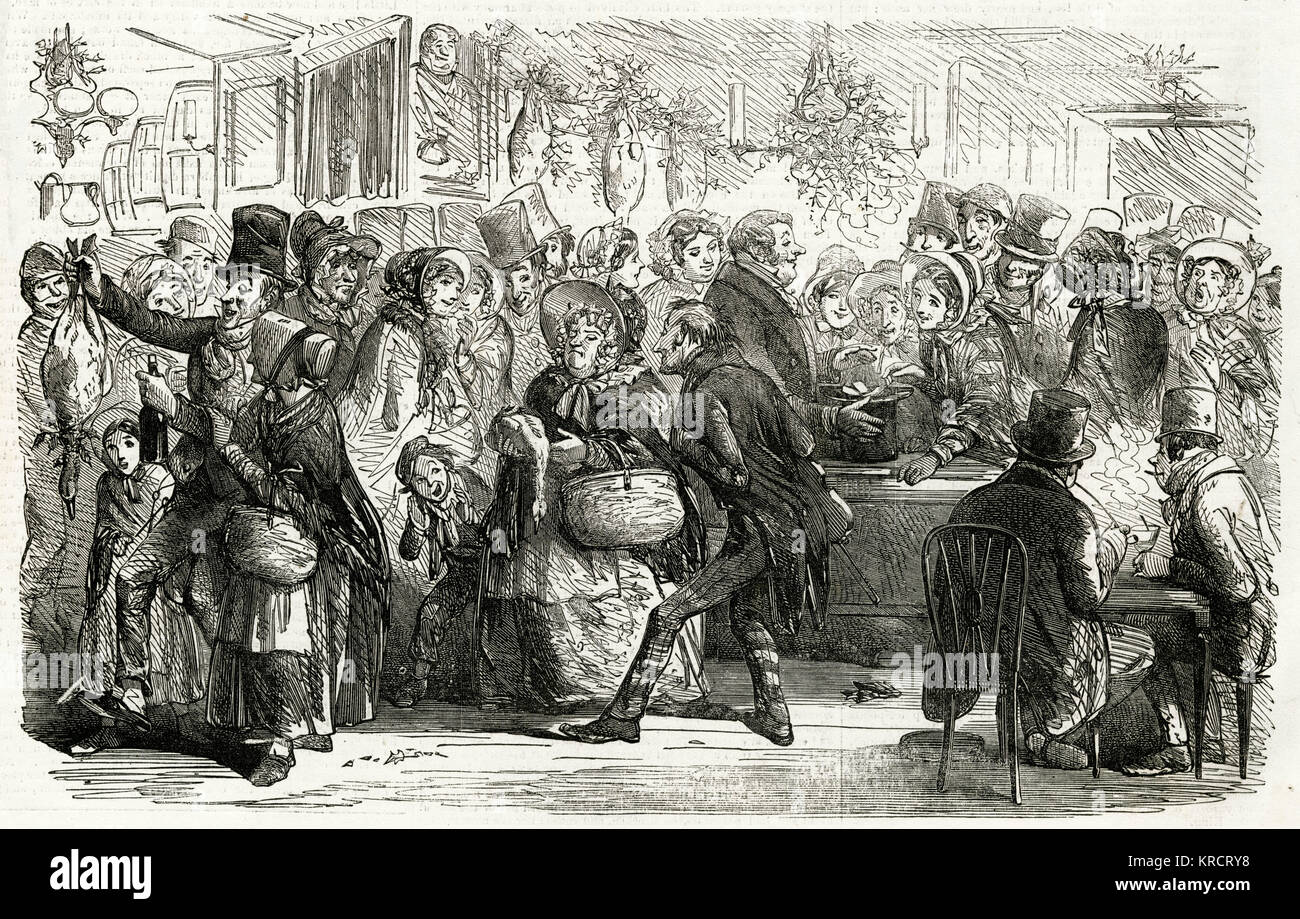 'Goose Clubs in London', sixpence every Saturday evening after wages received for ten or twelve weeks before - Stock Image