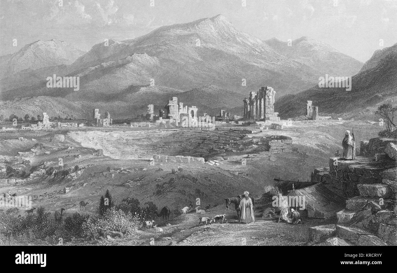 The ruins of Laodicea (today Latakia) : if the old city was destroyed, it is perhaps because its inhabitants were - Stock Image