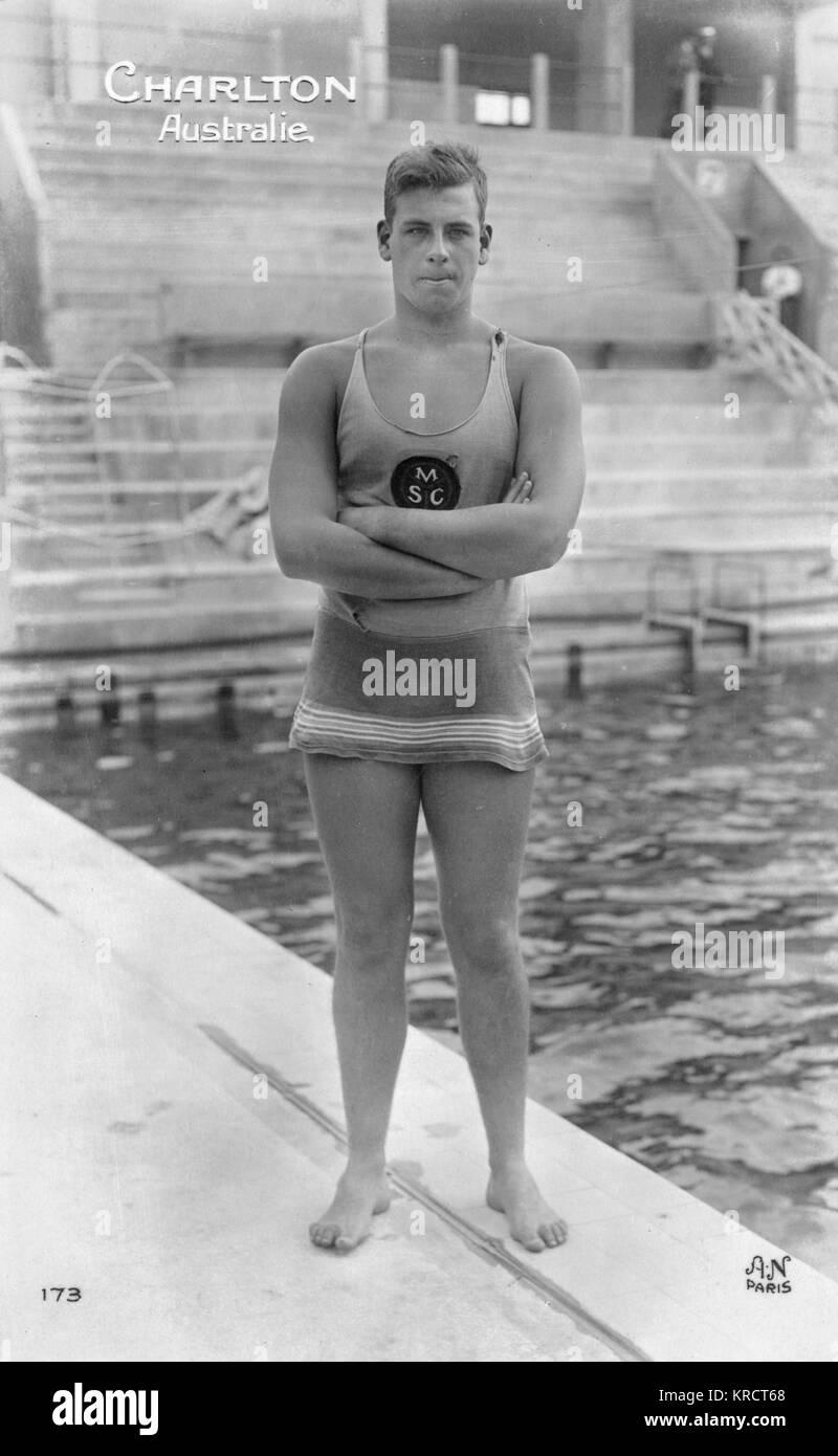 The Australian freestyle swimmer Andrew Murray Charlton (1907-1975), nicknamed Boy Charlton. He won a gold medal - Stock Image
