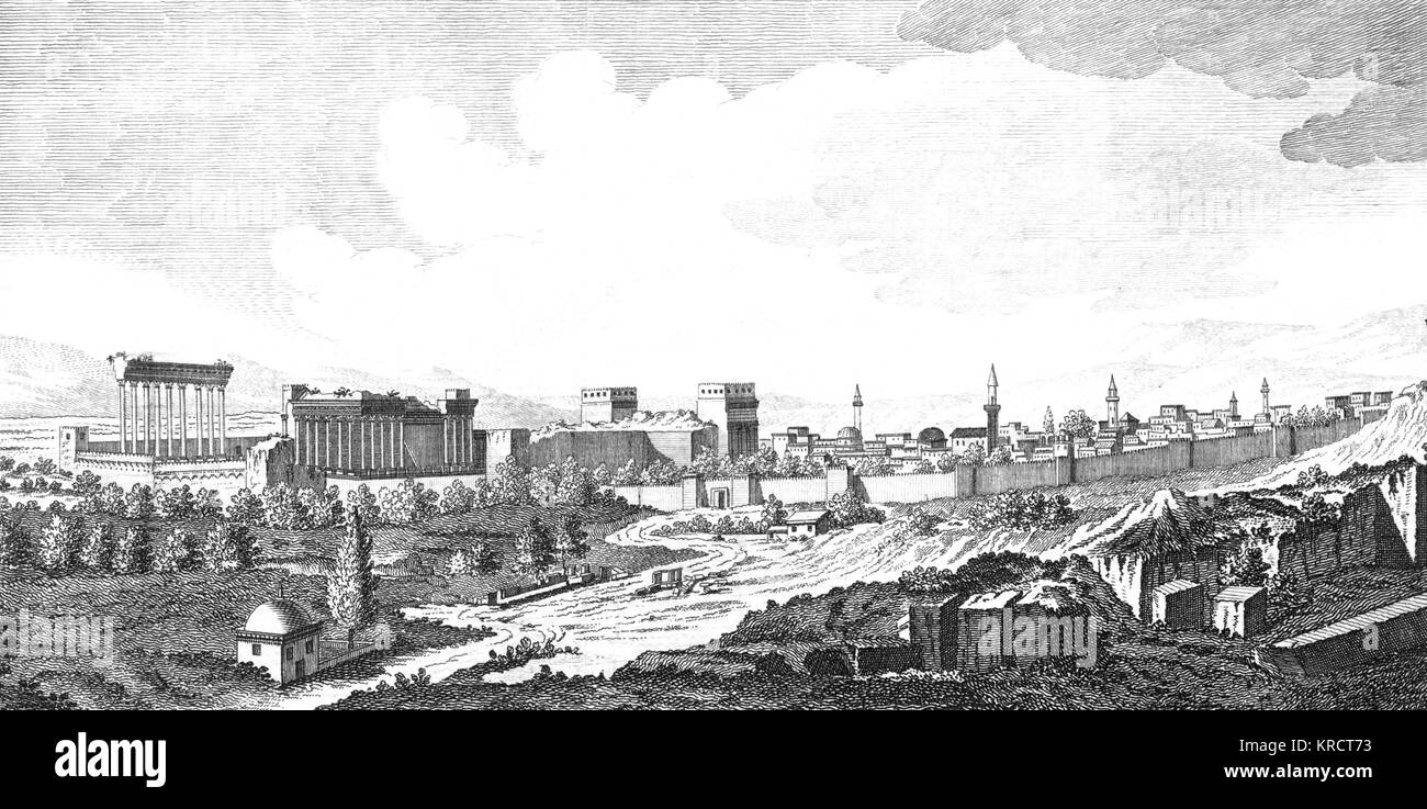 viewed from the south Date: 1768 - Stock Image