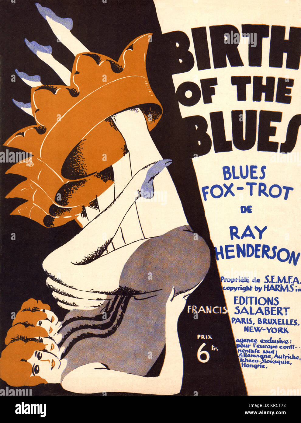 THE BIRTH OF THE BLUES '...and from a jail came the wail of a down-hearted frail, and they played that as part of Stock Photo