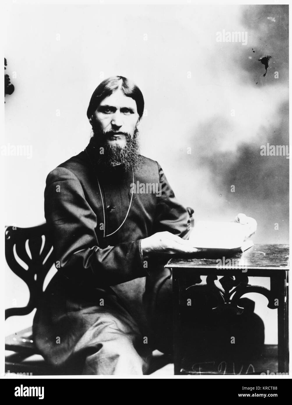 GRIGORI RASPUTIN Russian mystic and court favourite Date: 1872 - 1916 - Stock Image