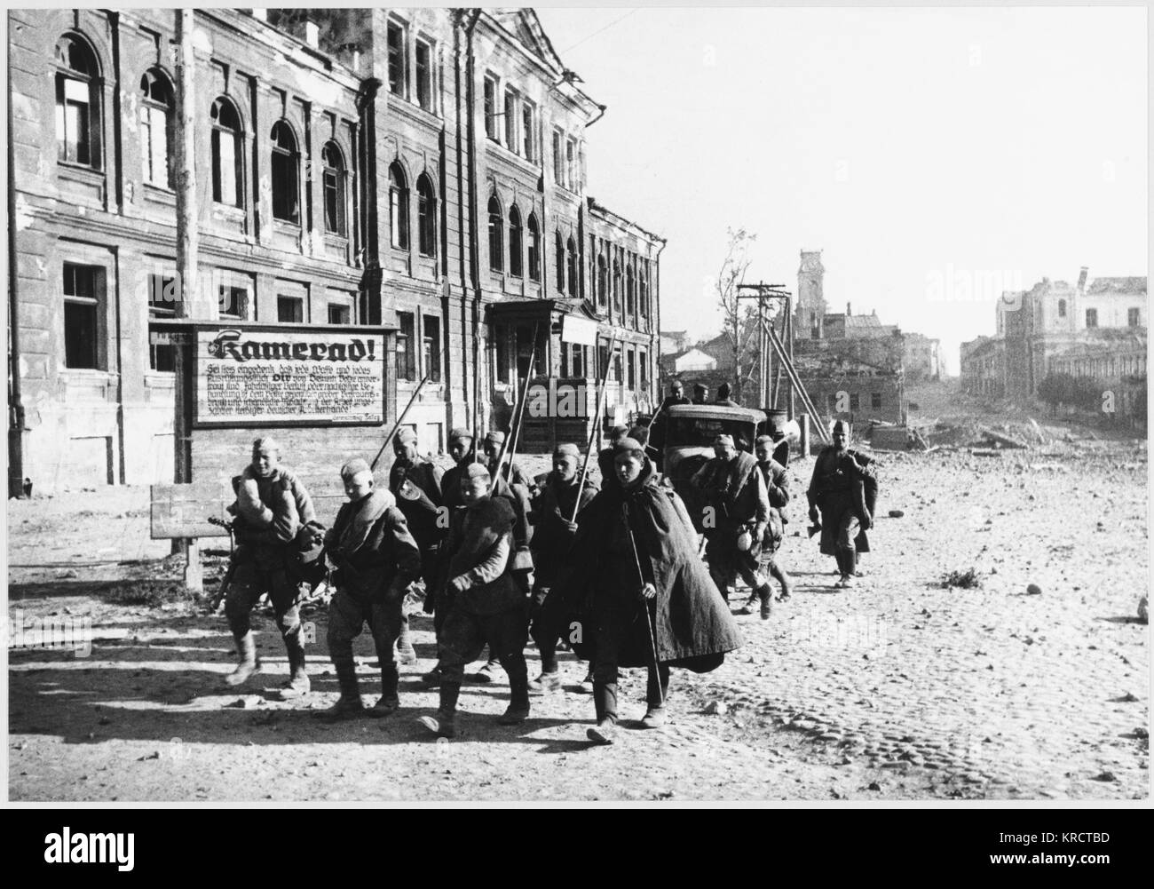 LIBERATION SCENES The City of Vitebsk liberated in June 1944, where there were only 118 survivors from a pre- war - Stock Image