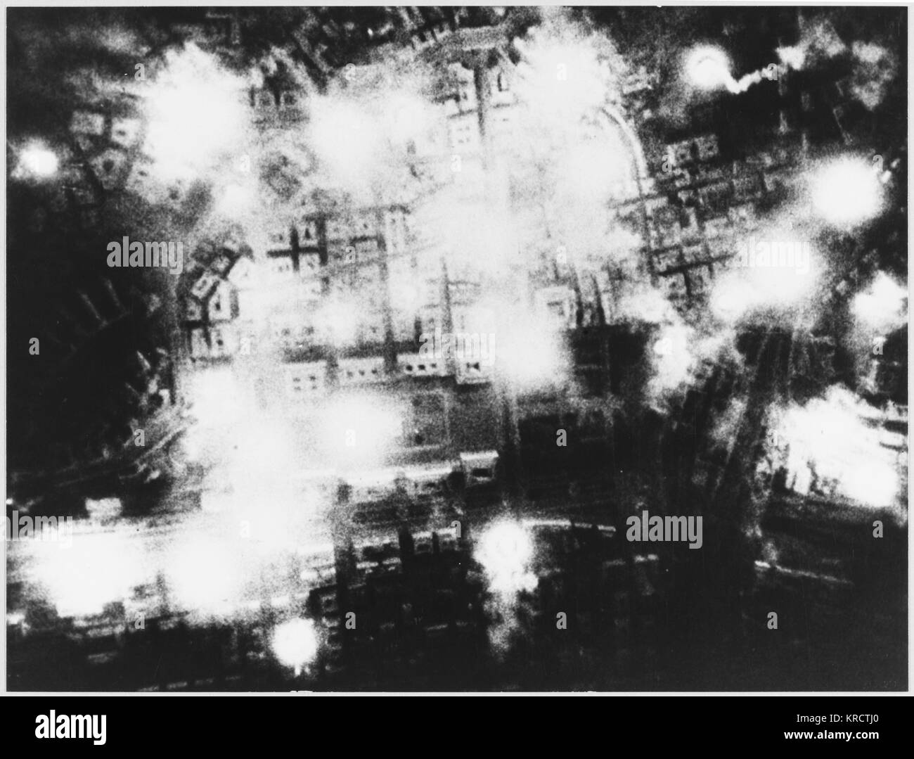 A Soviet bombers' view of Berlin. - Stock Image