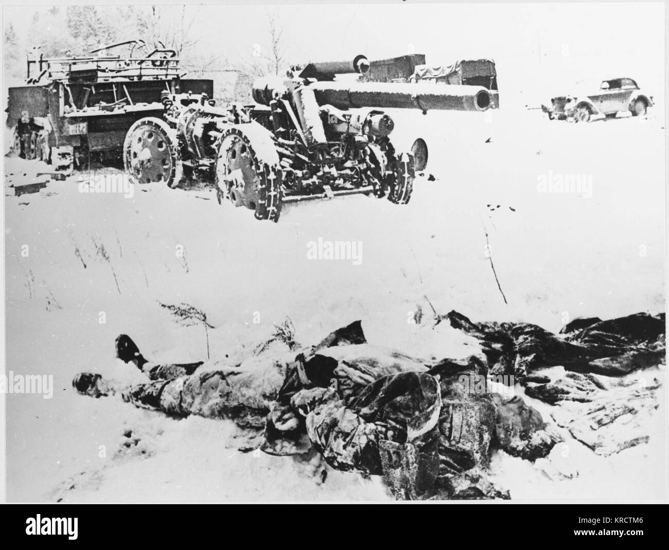 During the retreat from Moscow, German machinery and weaponry fail to operate because of the low temperatures ( - Stock Image