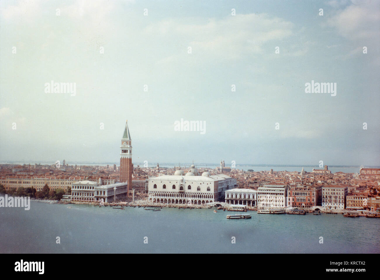 General view of Venice, Italy. Date: 1968 - Stock Image