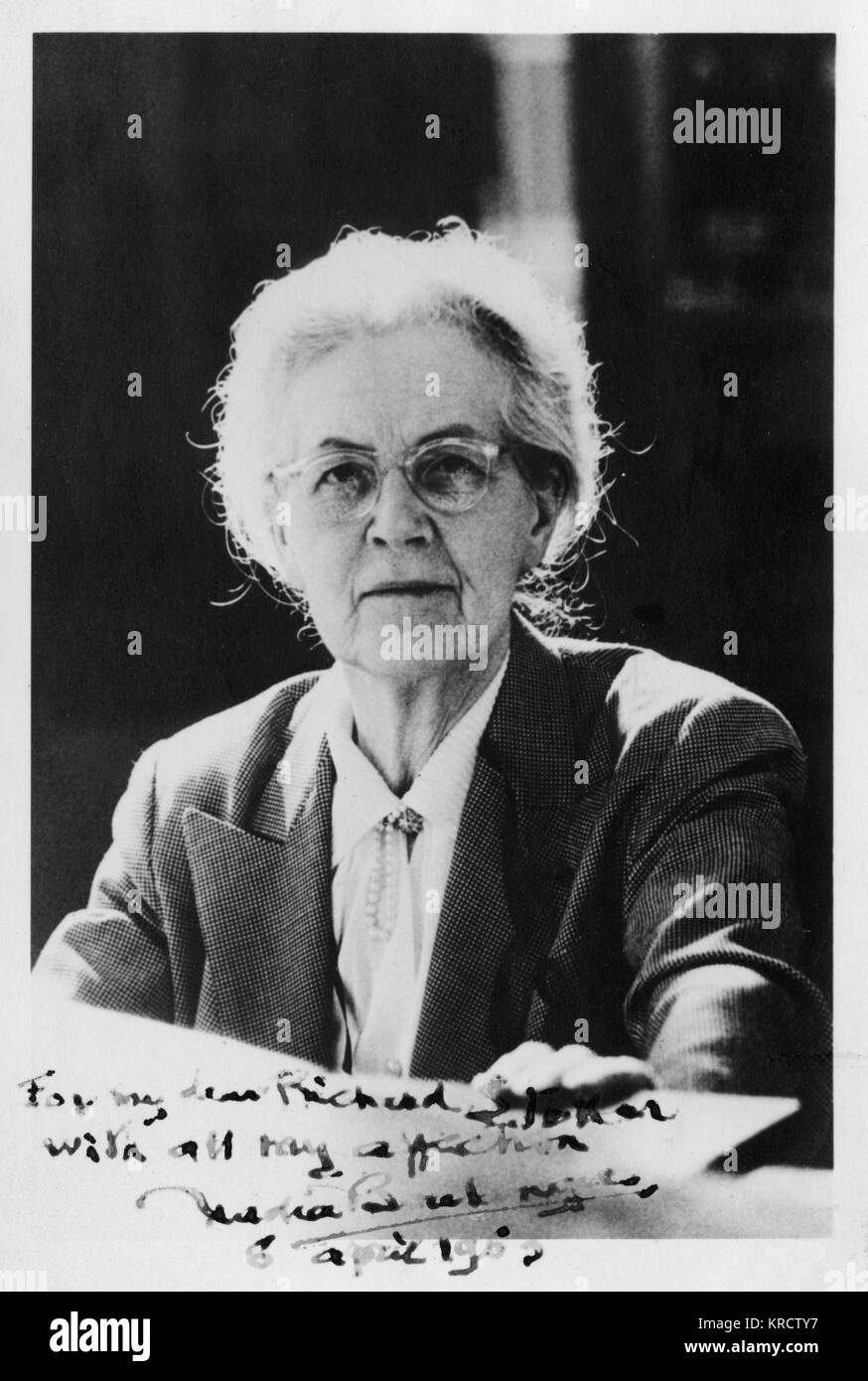 NADIA-JULIETTE BOULANGER (1887-1979), French music teacher and conductor. Her students included Aaron Copland, Roy - Stock Image