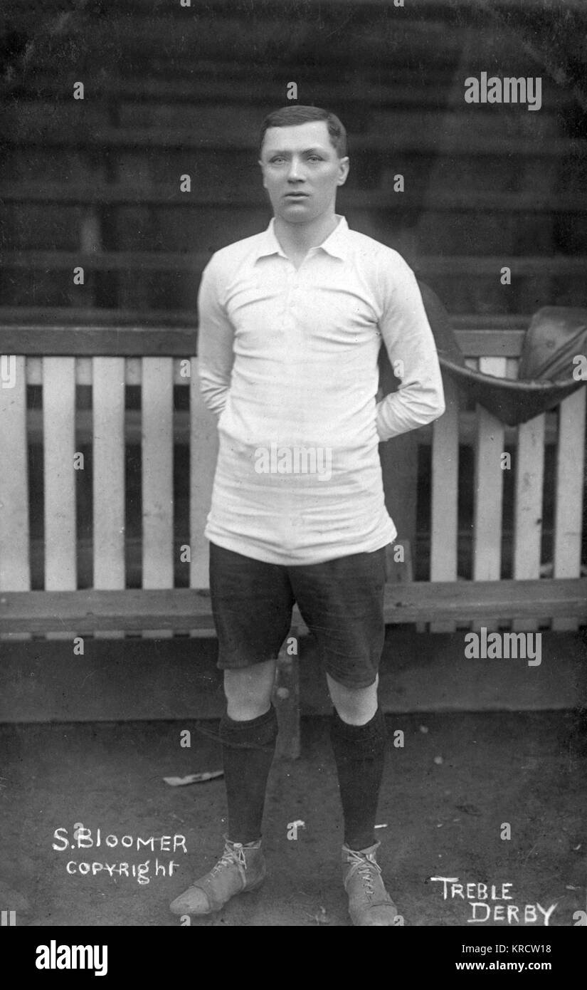 Steve Bloomer (1874-1938), English footballer and manager. He played for Derby County, Middlesbrough and England - Stock Image