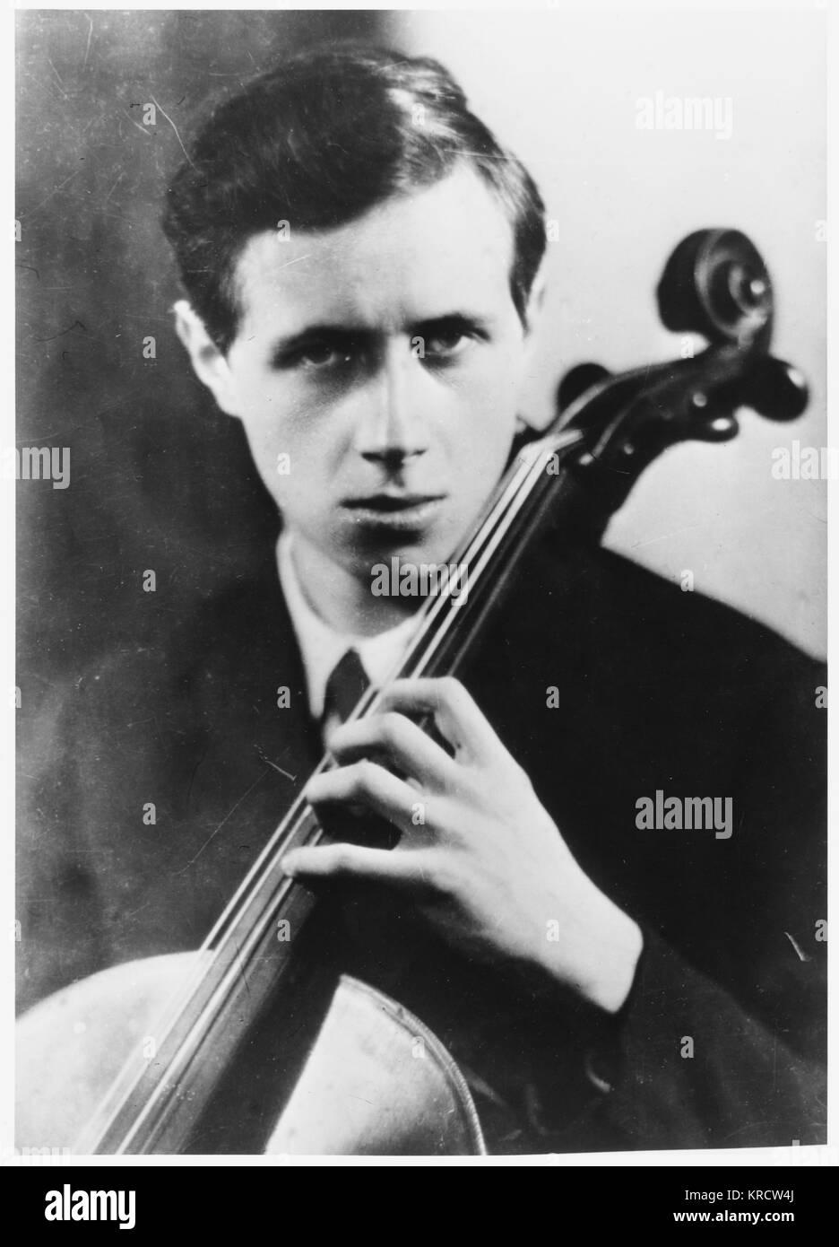 MSTISLAV ROSTROPOVICH Russian cellist Date: 1927 - 2007 - Stock Image