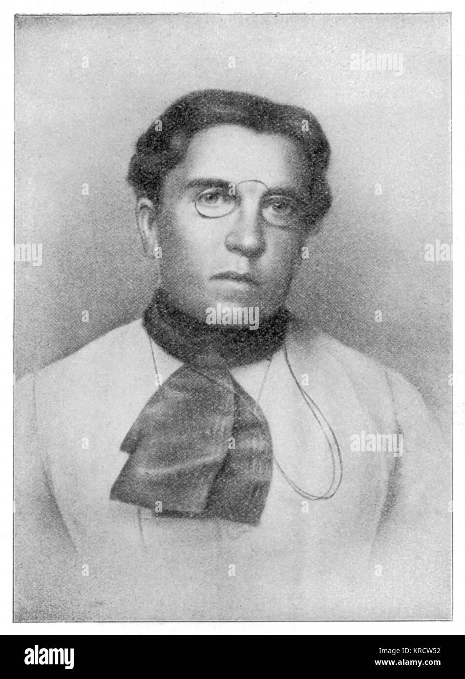 EMMA GOLDMAN Lithuanian born American Anarchist agitator, whose teachings inspired Leon Czolgosz to assassinate - Stock Image