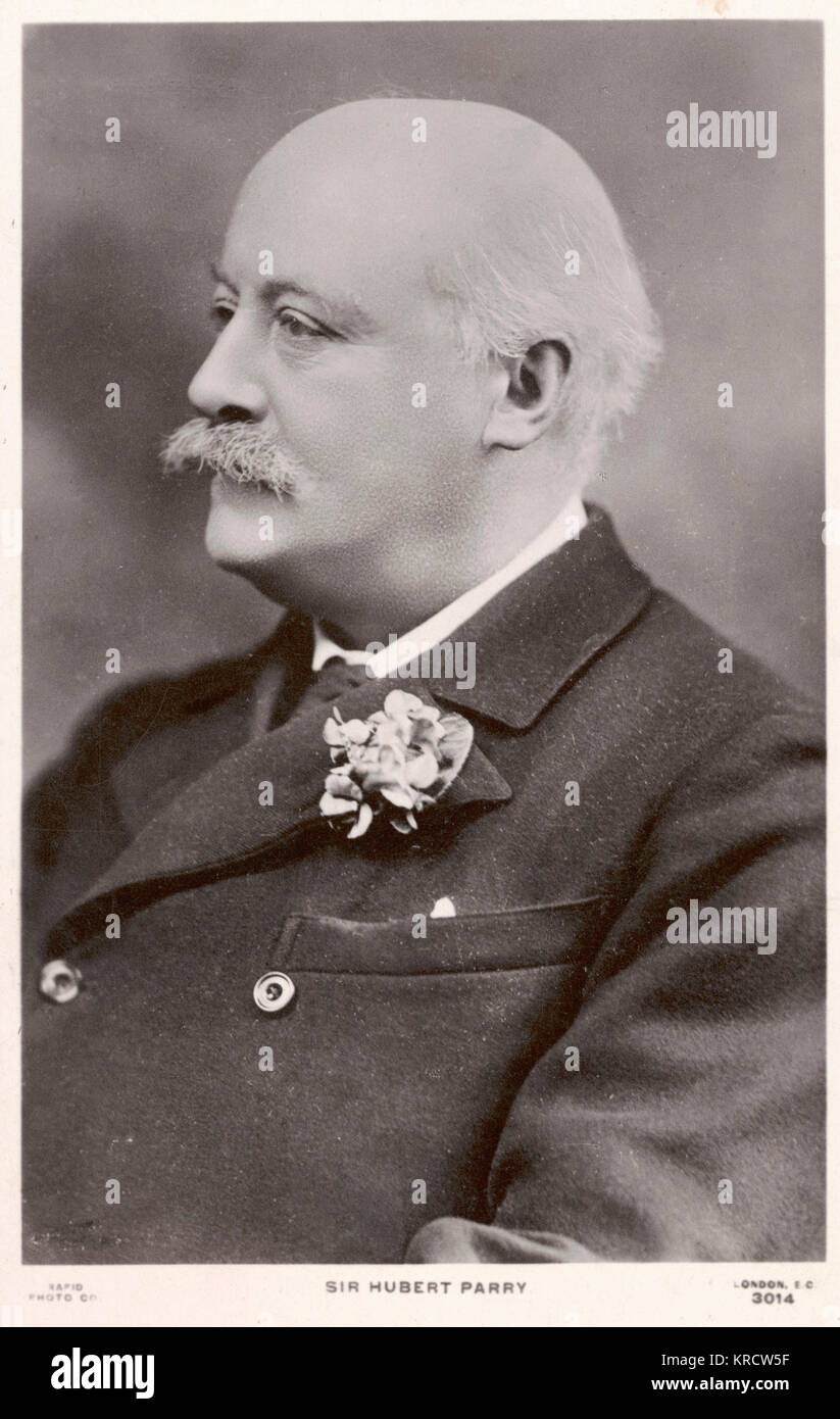 CHARLES HUBERT PARRY English composer, born in Bournemouth. Became Director of the Royal College of Music in 1895. - Stock Image
