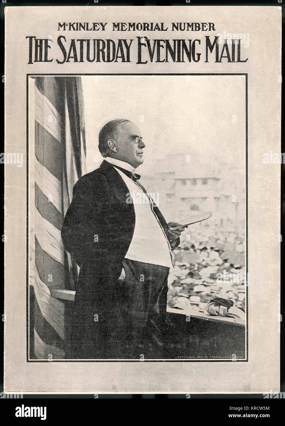 WILLIAM MCKINLEY The U.S. Presidents last public address in New York the day before his shooting. Date: Sept 5th,1901 - Stock Image