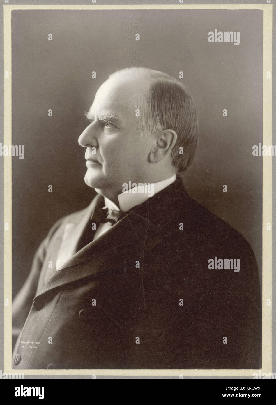 WILLIAM MCKINLEY (1843 - 1901), Photographic portrait of William Mckinley, 25th President of the United States. - Stock Image