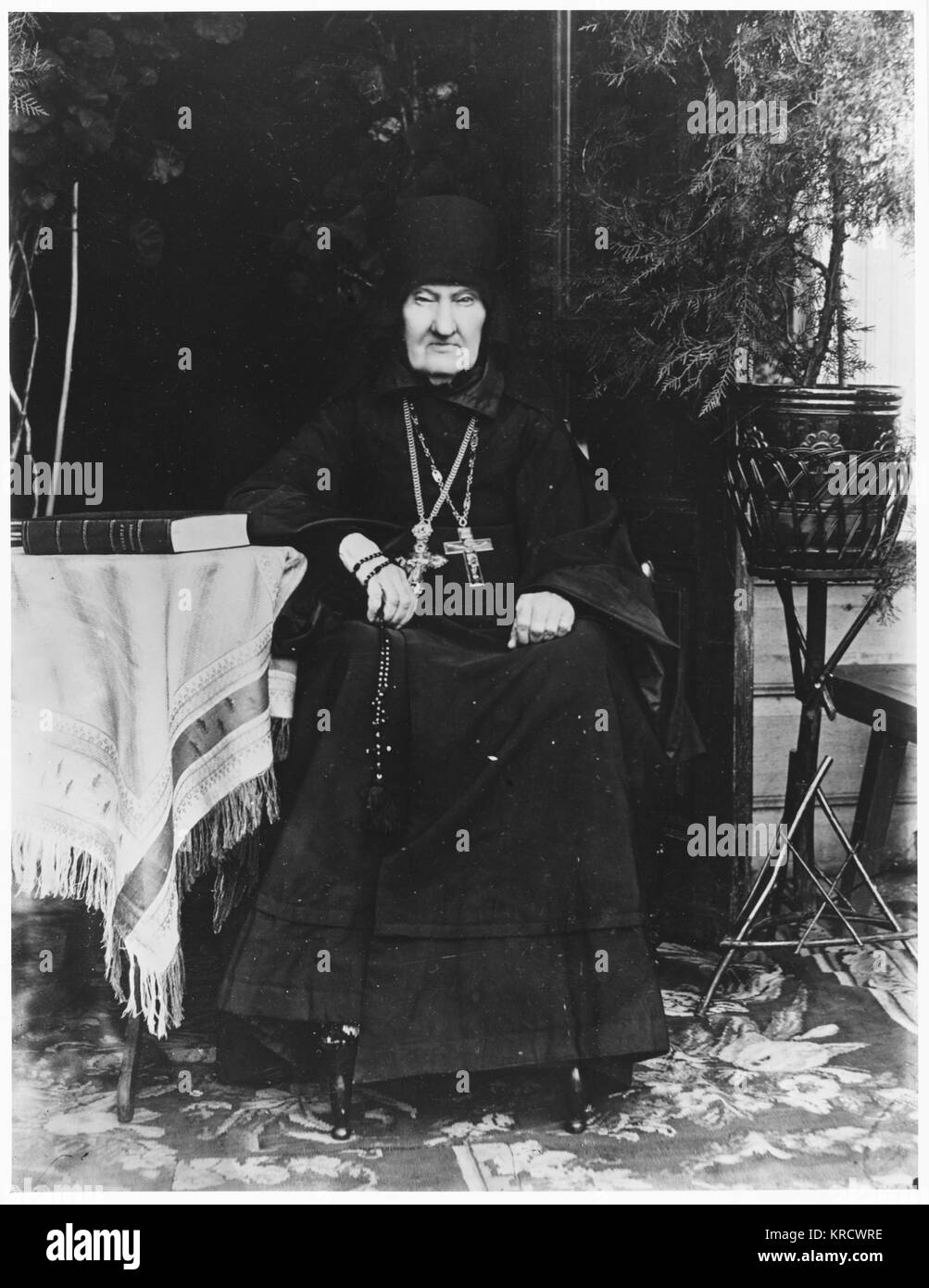 The Russian Orthodox dean of Uspenksy Convent Date: 1892 - Stock Image