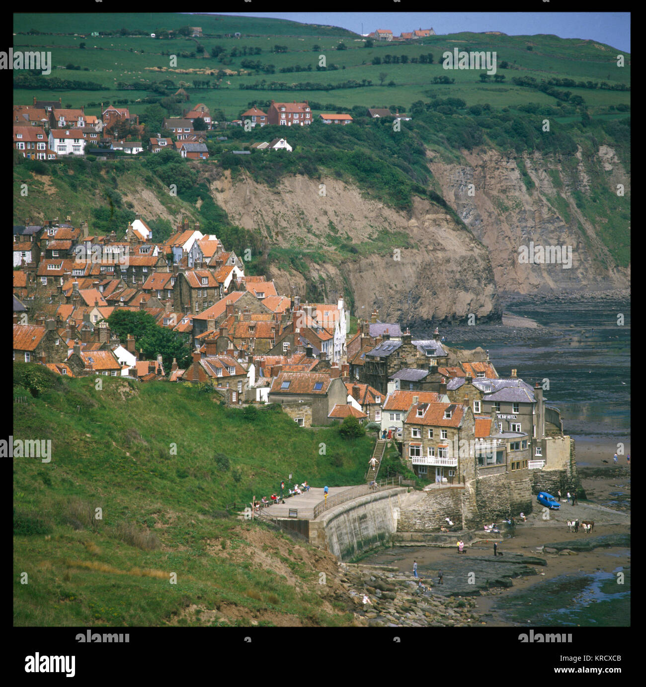 Idiosyncratic coastal village  in North Yorkshire, with a  history of smuggling, but  little to prove the myth that - Stock Image