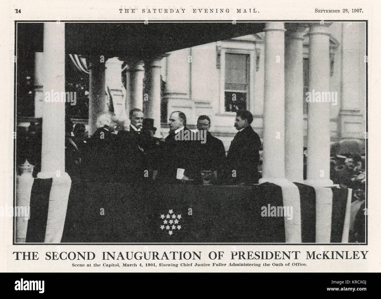 WILLIAM MCKINLEY  The inauguration of William McKinley to a second term as  President of the USA at  the Capitol - Stock Image