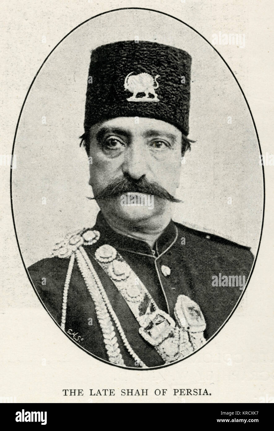 Naser al-Din Shah Qajar (1831 - 1896), King of Persia from 5 September 1848 to 1 May 1896 when he was assassinated. - Stock Image