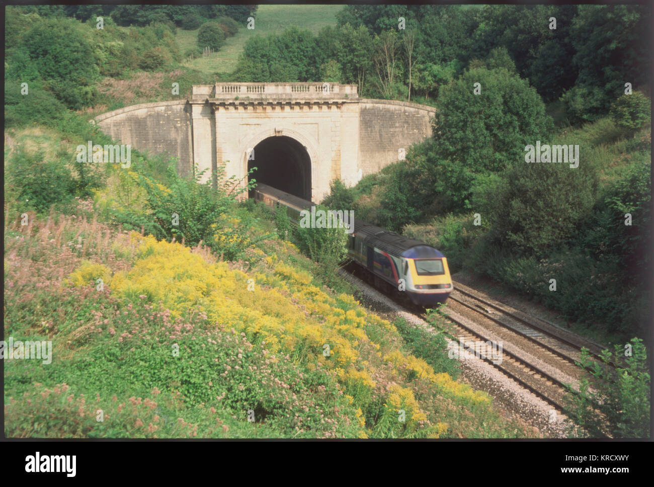 Isambard Kingdom Brunel's  famous Box Tunnel, Corsham,  Wiltshire, took 5 years (1836- 41) to build. Two miles - Stock Image